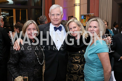 Katie Snowden, Don and Olwen Pongrace, Connie Carter. Photo by Tony Powell. 2017 Choral Arts Gala. Kennedy Center. December 18, 2017
