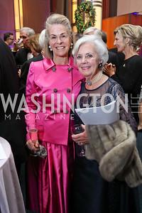 Sheila Gross, Betsy Burke. Photo by Tony Powell. 2017 Choral Arts Gala. Kennedy Center. December 18, 2017