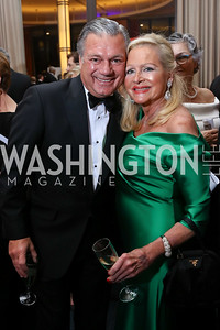 Bruce Neal, Deborah Sigmund. Photo by Tony Powell. 2017 Choral Arts Gala. Kennedy Center. December 18, 2017