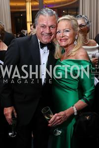 Bruce Neal, Deborah Sigmund. Photo by Tony Powell. 2017 Choral Arts Gala. Kennedy Center. December 18, 2017