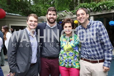 Peter Bihl, Max Lowenthal, Maureen Orth, Henry Wellington. Photo by Tony Powell. 2017 Colombianos & Gringos. May 7, 2017