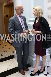 Deputy Chancellor Michael Gaal, Katherine Bradley. Photo by Tony Powell. 2017 DC Ed Fund 10 Year Anniversary Dinner. Renwick Gallery. October 5, 2017