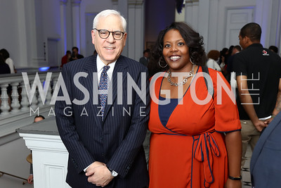 David Rubenstein, Kaya Henderson. Photo by Tony Powell. 2017 DC Ed Fund 10 Year Anniversary Dinner. Renwick Gallery. October 5, 2017