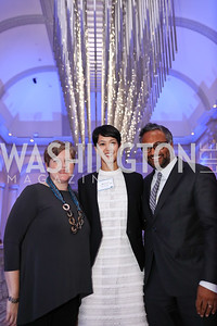 Carol Wilson, Ahnna Smith, Abraham Thomas. Photo by Tony Powell. 2017 DC Ed Fund 10 Year Anniversary Dinner. Renwick Gallery. October 5, 2017
