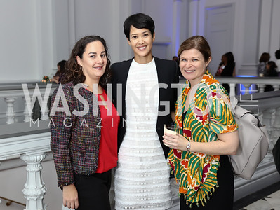 Shana Young, Ahnna Smith, Helen Westmoreland. Photo by Tony Powell. 2017 DC Ed Fund 10 Year Anniversary Dinner. Renwick Gallery. October 5, 2017