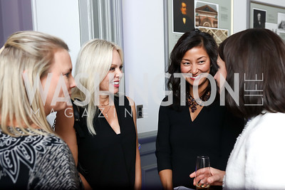 Kimber Pennington, Jodi Dodds Kinner, Jeanie Lee, Emily Mulshine. Photo by Tony Powell. 2017 DC Ed Fund 10 Year Anniversary Dinner. Renwick Gallery. October 5, 2017