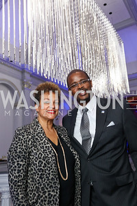 Debbi Jarvis, Chancellor Antwan Wilson. Photo by Tony Powell. 2017 DC Ed Fund 10 Year Anniversary Dinner. Renwick Gallery. October 5, 2017