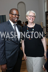 Antwan Wilson, Deputy Mayor for Education Jennifer Niles. Photo by Tony Powell. 2017 DC Ed Fund 10 Year Anniversary Dinner. Renwick Gallery. October 5, 2017