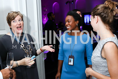 Carol Wilson, Chavon Jones, Mary Beth Maggio. Photo by Tony Powell. 2017 DC Ed Fund 10 Year Anniversary Dinner. Renwick Gallery. October 5, 2017