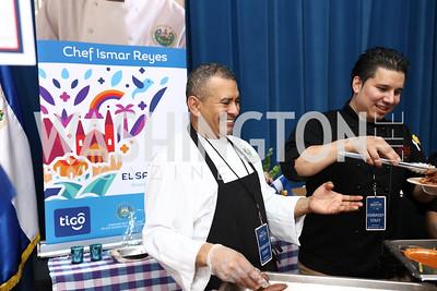 El Salvador Chef Ismar Reyer-Cruz. Photo by Tony Powell. 2017 Embassy Chefs Challenge. Reagan Building. May 24, 2017