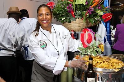 Haiti Chef Cynthia Verna. Photo by Tony Powell. 2017 Embassy Chefs Challenge. Reagan Building. May 24, 2017