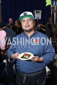Philippines Chef Red Garcia. Photo by Tony Powell. 2017 Embassy Chefs Challenge. Reagan Building. May 24, 2017