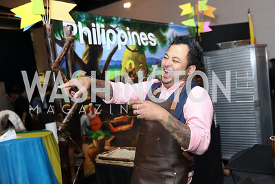 Philippines Bartender Jo-Jo Valenzuela. Photo by Tony Powell. 2017 Embassy Chefs Challenge. Reagan Building. May 24, 2017
