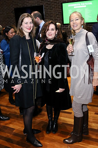 Clemence Owen, Anne Wakefield, Justine Schmidt. Photo by Tony Powell. EFF 25th Anniversary. Embassy of New Zealand. February 16, 2017