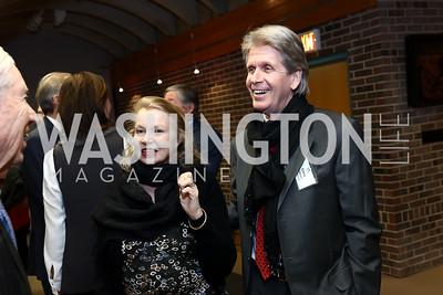 Sylvia Ripley and Christopher Addison. Photo by Tony Powell. EFF 25th Anniversary. Embassy of New Zealand. February 16, 2017