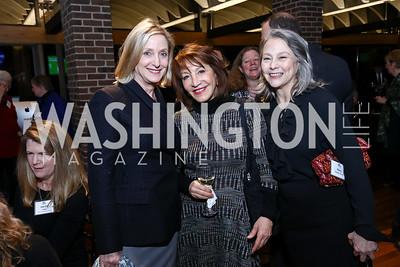 Jane Cafritz, Nora Pouillon, Mary Noble Ours. Photo by Tony Powell. EFF 25th Anniversary. Embassy of New Zealand. February 16, 2017