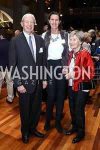 Roger Stone, Edie Cecil, Deirdre Stancioff. Photo by Tony Powell. EFF 25th Anniversary. Embassy of New Zealand. February 16, 2017