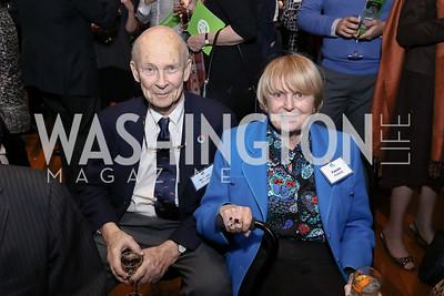 Malcolm and Pam Peabody. Photo by Tony Powell. EFF 25th Anniversary. Embassy of New Zealand. February 16, 2017