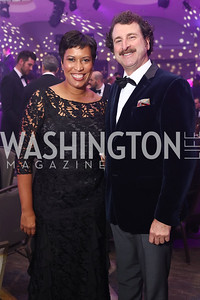 Mayor Muriel Bowser, Scott Plank. Photo by Tony Powell. 2017 Fight Night. Washington Hilton. November 2, 2017