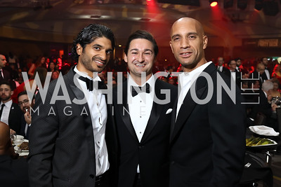 Vinoda Basnayake, Zach Leonsis, Adrian Fenty. Photo by Tony Powell. 2017 Fight Night. Washington Hilton. November 2, 2017