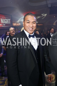New Zealand Boxer Ray Sefo. Photo by Tony Powell. 2017 Fight Night. Washington Hilton. November 2, 2017