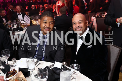 Actor Omar Miller, Michael Wilbon. Photo by Tony Powell. 2017 Fight Night. Washington Hilton. November 2, 2017
