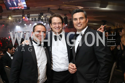 Khaled Rabbani, Brad Nierenberg, Doug Kammerer. Photo by Tony Powell. 2017 Fight Night. Washington Hilton. November 2, 2017