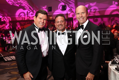 Bret Baier, Raul Fernandez, Rep. John Delaney. Photo by Tony Powell. 2017 Fight Night. Washington Hilton. November 2, 2017