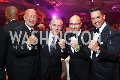 "Jimmy Lynn, Boxer Ray ""Boom Boom"" Mancini, PFL President Carlos Silva, Chris Tavlarides. Photo by Tony Powell. 2017 Fight Night. Washington Hilton. November 2, 2017"