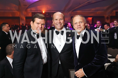Bret Baier, Rep. John Delaney, Mark Ein. Photo by Tony Powell. 2017 Fight Night. Washington Hilton. November 2, 2017