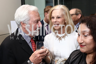 Dennis Barrie, Christie Hefner. Photo by Tony Powell. 2017 Free Expression Awards. Newseum. April 18, 2017