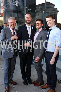 Steve Wood, Joe Reef, Isaac Johnson, Jeff Darrah. Photo by Tony Powell. 2017 Free Expression Awards. Newseum. April 18, 2017