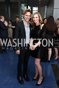 Robby Soave, Ellison Barber. Photo by Tony Powell. 2017 Free Expression Awards. Newseum. April 18, 2017