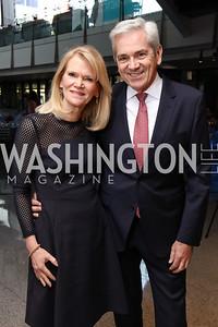 Honoree Martha Raddatz and Tom Gjelten. Photo by Tony Powell. 2017 Free Expression Awards. Newseum. April 18, 2017