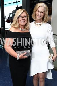 Gloria Dittus, Christie Hefner. Photo by Tony Powell. 2017 Free Expression Awards. Newseum. April 18, 2017