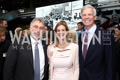 Marty Baron, Katharine Weymouth, Fred Ryan. Photo by Tony Powell. 2017 Free Expression Awards. Newseum. April 18, 2017