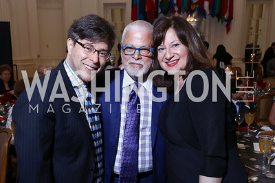 Joel Friedman, Hector Torres, Jenny Bilfield. Photo by Tony Powell. 2017 GALA Hispanic Theatre Gala. OAS. June 5, 2017