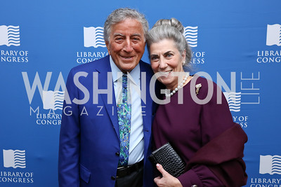 Tony Bennett, Barby Allbritton. Photo by Tony Powell. 2017 Gershwin Prize Dinner. Hay Adams. November 14, 2017