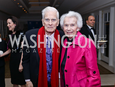 James Billington and Marjorie Billington. Photo by Tony Powell. 2017 Gershwin Prize Dinner. Hay Adams. November 14, 2017