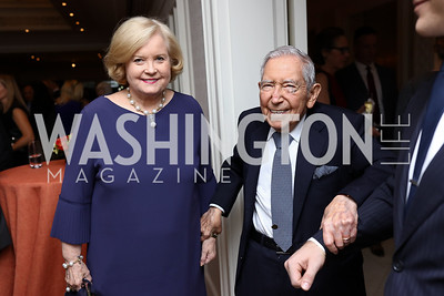 Sharon Percy Rockefeller, Leonard Silverstein. Photo by Tony Powell. 2017 Gershwin Prize Dinner. Hay Adams. November 14, 2017