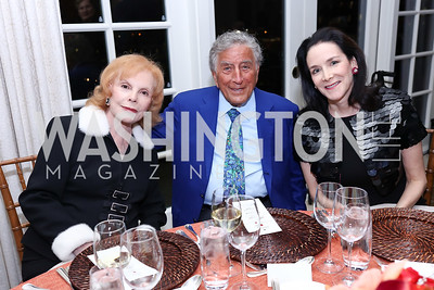 Buffy Cafritz, Tony Bennett, Marjorie Fisher Furman. Photo by Tony Powell. 2017 Gershwin Prize Dinner. Hay Adams. November 14, 2017