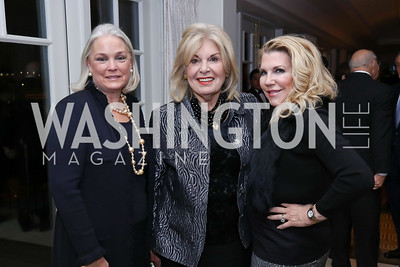 Anne Del Raso, Patricia Harrison, Debra Battista. Photo by Tony Powell. 2017 Gershwin Prize Dinner. Hay Adams. November 14, 2017