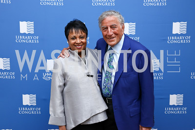 Librarian Carla Hayden, Tony Bennett. Photo by Tony Powell. 2017 Gershwin Prize Dinner. Hay Adams. November 14, 2017