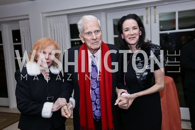 Buffy Cafritz, Jame Billington, Marjorie Fisher Furman. Photo by Tony Powell. 2017 Gershwin Prize Dinner. Hay Adams. November 14, 2017