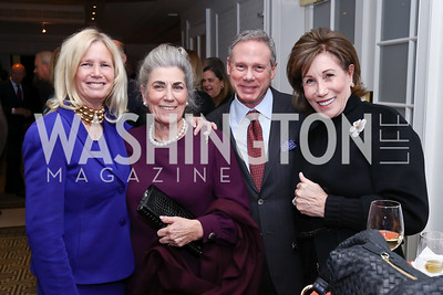 Susan Blumenthal, Barby Allbritton, Wayne and Catherine Reynolds. Photo by Tony Powell. 2017 Gershwin Prize Dinner. Hay Adams. November 14, 2017