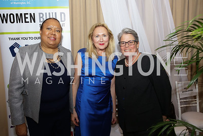 Corinne McIntosh-Douglas, Susanne V. Slater, Polly Donaldson 2017 Habitat for Humanity Women Build. September 14, 2017 Photo by: Naku Mayo