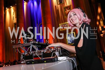 DJ Neekola. Photo by Tony Powell. 2017 Harman Center Gala. Building Museum. October 15, 2017