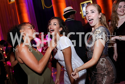 Antoinette Robinson, Maggie Thompson, Liz Colwell. Photo by Tony Powell. 2017 Harman Center Gala. Building Museum. October 15, 2017