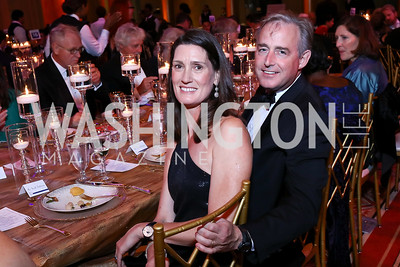 Sarah and Ted Stettinius. Photo by Tony Powell. 2017 Harman Center Gala. Building Museum. October 15, 2017