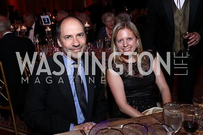Marcus Brauchli, Jessica Vince. Photo by Tony Powell. 2017 Harman Center Gala. Building Museum. October 15, 2017